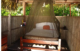 Room inside the cabins of Paridita Island